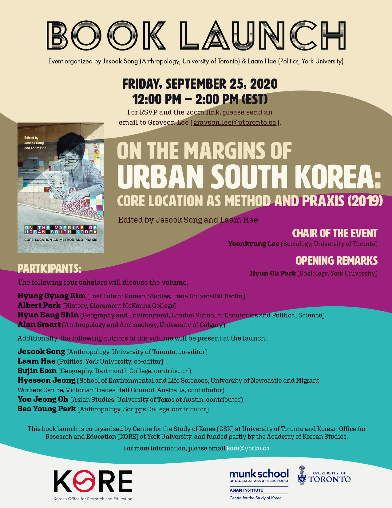 Book Launch | On the Margins of Urban South Korea: Core Location as Method and Praxis (2019, eds by Jesook Song and Laam Hae)