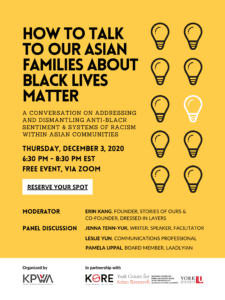 How to Talk to Our Asian Families About  Black Lives Matter