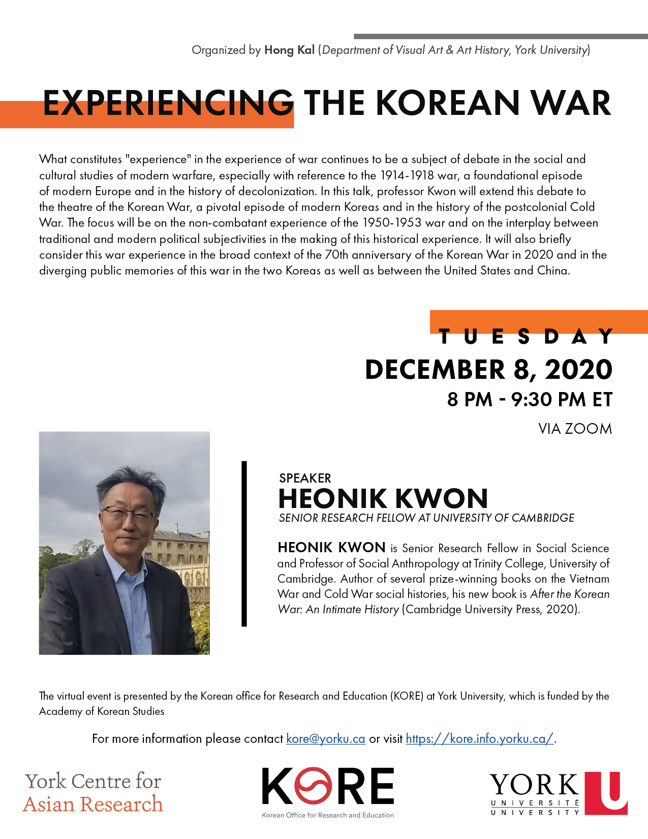 Truth and Reconciliation Part 2     Experiencing the Korean War